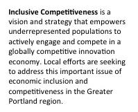Inclusive Competitiveness